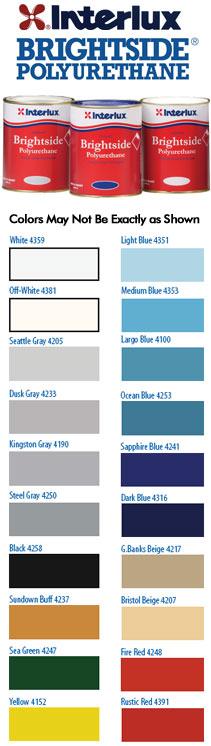 Departments Interlux Brightside Polyurethane Paint Qt